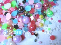 1000pcs/Lots Shiny Pearlized AB Colors Rhinestones Cabochons (3-10mm) Mixed