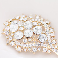 European fashion and simple style rhinestone  crystal  brooch