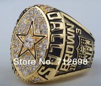 1992 NFL Dallas Cowboys XXVII Copper Super bowl ring Championship ring replica rings 18K Gold  Free Shipping Christmas Gift