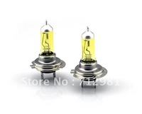 2013 New free shipping H7 12V 55W Halogen bulb  2 Pcs yellow