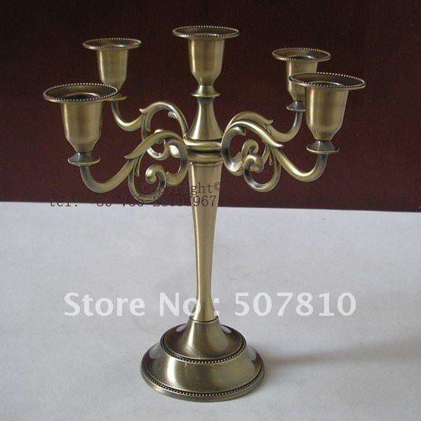 EMS/DHL fast shipping! metal 5 light candelabra candlesticks candle holder for wedding home decoration B004(China (Mainland))