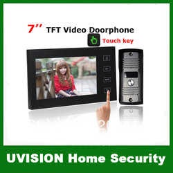 Ultra-thin 7 inch TFT Color Video Doorphone Intercom System with Touch Key free shipping(China (Mainland))