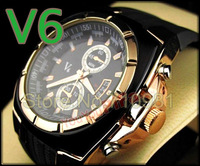HOT!2013 New Arrival Fashion Dail Wholesale 30pcs/lot  Mens Sport Watches, Quartz Men Brand New V6 Super Speed LLW-V1002