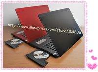 Notebook Computer Windows 7 XP 14 inch 2GB/ 4GB RAM and 320GB/ 500GB HDD Metal Aluminium Laptop Russia Portuguese Arabic DVD RW
