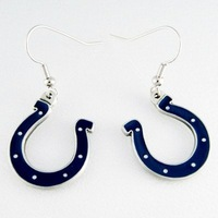 fast delivery free shipping one doze 12 pcs big discount  small quantity to colts football design earrings