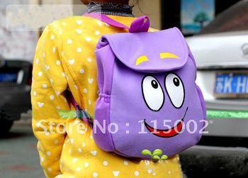 "Wholesale 10pcs Dora the Explorer ""Backpack"" Mr Face Plush Backpack Shool Bag Purple Toddler Size New! Retail"
