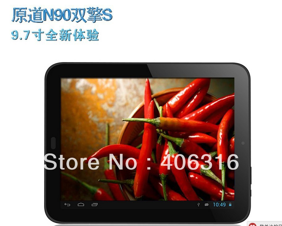 "Планшетный ПК courier shipping! Yuandao/window N90 Dual Core S 1.6G Tablet PC RK3066 9.7"" android4.1 8G/1GB Dual Camera WIFI"