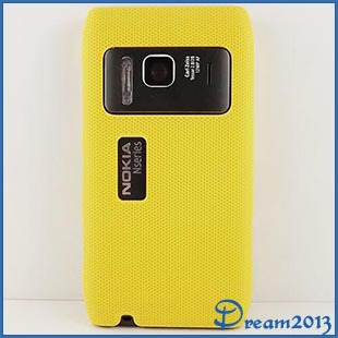 For Nokia N8 Case NEW DESIGN Mesh Hard Back Rubber Case For Nokia N8 N8-00 Black White Green Blue Red Yellow