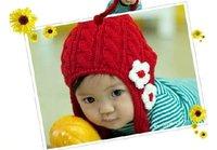 Baby Girl Toddler Crochet Flower Beanie Hat Cap