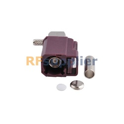 Fakra D crimp Jack connector right angle Violet For Car GSM Cellular phone(China (Mainland))