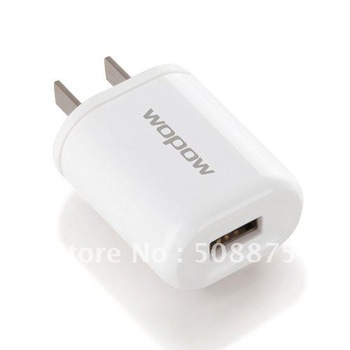 USB  Charger Charging for iPhone 3GS 4G 4S iPod iPad Samsung HTC Nokia Black/White Wholesale