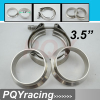 "3.5""  V Band clamp flange Kit (Stainless Steel 304 Clamp+SUS304 Flange) For turbo exhaust downpipe"