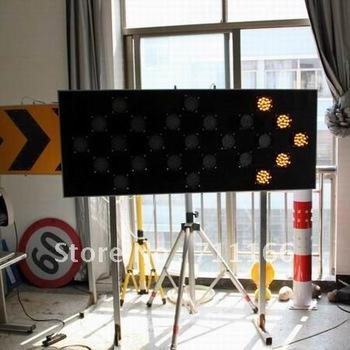 2013 solar 25 lamp LED arrow panel size 150*90*6cm