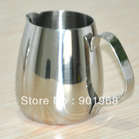 100pcs per lot  stainless steel Latte milk jug-milk pot-350ml