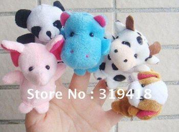 NEW hot Models Animal Finger Puppet, Finger toy, finger doll, baby dolls lovely Free Shipping 20pcs/lot wholesale