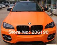 High quality  3D 1.52Mx30M(Air free bubbles)Matte orange with Air Drain Backside auto wrap vinyl films for auto car