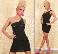 Black pink dirndl Clubwear Party Dresses Off Shoulder Mini Skirts Sexy Lady Petticoat