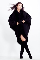 Original design excellent fabric thermal cloak noble outerwear overcoat cashmere overcoat