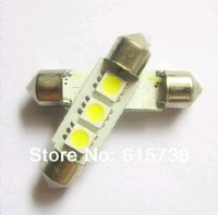 10PCS *  4 SMD 5050  39mm  LED Festoon Dome Light Bulbs White color   39mm (can choose 41mm)