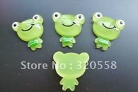 New arrive 50pcs frog Cabochons FlatBack Resins Scrapbooking Embellishment Free Shipping