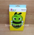 Free shipping ten colours for  Cute 3D silicon bee case for iphone4 4G/4S withe retail package