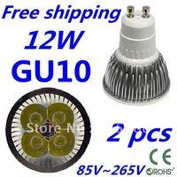 2pcs/lot CREE LED High power GU10 4x3W 12W led Light led Lamp led Downlight led bulb spotlight Free shipping