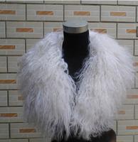 Free shipping, winter solid color black, white fashion mongolian fur collar scarf muffler scarf for women