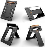 Hot Selling MEN'S Mini Portable Razor, Credit Card size, U-style Mirror, 2 Blades Wallet Shaver, Tavel & Outdoor convinient