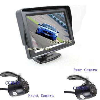 Car front and  backup camera and 4.3 Inch monitor system   reversing camera