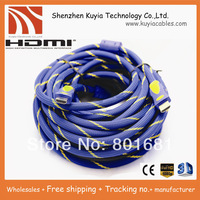 Tracking number+Free Shipping+HDMI TO HDMI CABLE CORD 5M 16FT Male M/M for HDTV 1.4 wholesales+Best quality