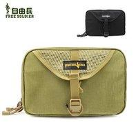 Free soldier  Bag Outdoor Travel Camping Wash Gargle Bag Free Shipping  Color:Black/TAN
