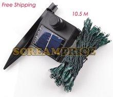 10.5M New Solar Power wireless white 100 LED String Fairy Light Xmas Garden car(China (Mainland))