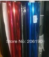 High quality chrome mirror blue, red  film, 1.52*30M (air free bubbles)  chrome color changing film, chrome car sticker.