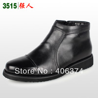3515 2012 genuine leather wool male cotton-padded shoes s06c high-top shoes thermal formal leather shoes