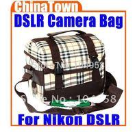 Deluxe DSLR Camera Shoulder Bag Photo Video Gadget Bag For Nikon DSLR Free Shipping + Drop Shipping
