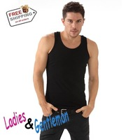 Wholesale And Retail Brand Man's Fashion Men's Vest / T-shirt Lycra Men Tank top 5Colors 1Pcs/Lot