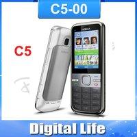 C5 Original Nokia C5-00 GPS 3.15MP 3G Bluetooth Unlock Cellphone Free Shipping
