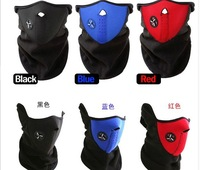 2pcs/lot In stock New Paintball Bicycle Motorcycle Ski Winter Warm Neck Half Face Mask Black