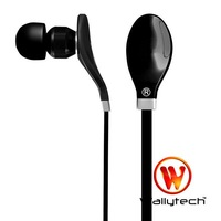 Wallytech 10 x New Flat Cable Earphones For iPod MP3 MP4  Metal earphone For iPad For Touch 3.5mm jack Free Shipping (WEA-108)
