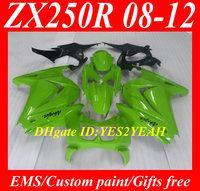 Injection Mould Fairing kit for KAWASAKI Ninja ZX250R ZX-250R 2008 2012 ZX 250R EX250 08 09 10 11 12 Green Fairings bodywork