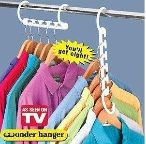 60packs/lot (8pcs/pack) Free shipping Space Saver Wonder Magic Hanger Closet Organizer ,wonder hanger as seen on TV(China (Mainland))