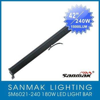 """42""""inch led light bar for truck, 4x4, ATV/UTV, JEEP15000Lumen,high power 240W LED light bar (SM6021-240)"""