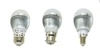 Holiday sale Free shipping 3W , 5w , 7w 100-240V golden/silver led globe bulb E27/GU10/B22 lamp