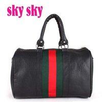 2014 hot selling simple ladies handbag pu leather popular women shoulder messenger bag free shipping factory sale  SK112