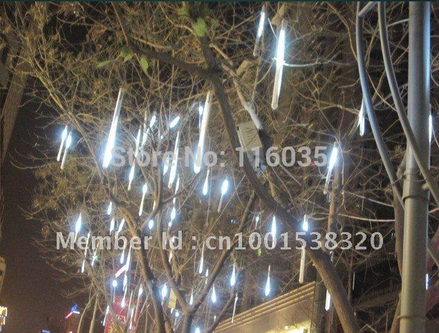 8pc*30-LED/lot White 50CM LED Meteor Shower Rain Tube Lamp Outdoor Tree Decoration icicle light for wedding christmas,waterproof(China (Mainland))