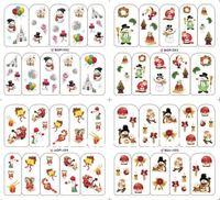 water sticker nail sticker Christmas style nail sticker 8pcs/lot