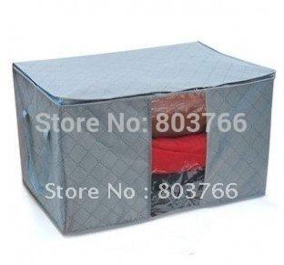 5pcs/lot Folding Bamboo charcoal clothing storage bag sweater storage box bedding organizer clothes storage organizer 130L