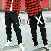 2012 hot sale Non-mainstream men's clothing trousers taper pants unisex skinny pants trousers hiphop jeans belt free shipping