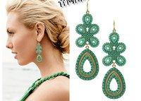 Free Shipping~~Fashion  Jewelry Metal Gold tone Celebrity Style Capri Chandelier Dangle Earrings Pendant for Women.OY110807 E008