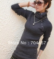 2013 Spring Winter elastic slim medium-long angora lady sweater turtleneck basic shirt outerwear women's sweater
